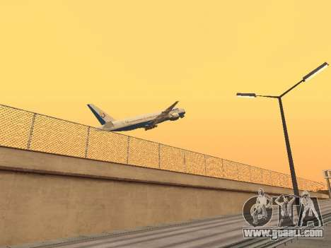 Boeing 777-2Q8ER Orenair Airlines for GTA San Andreas right view