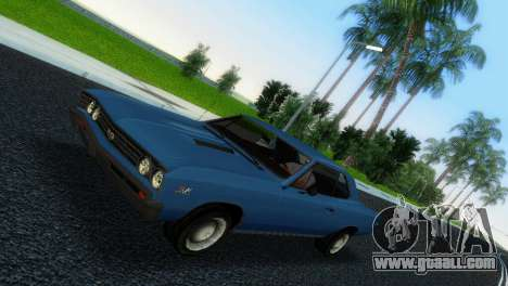 Chevrolet Chevelle SS 1967 for GTA Vice City left view