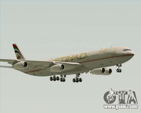 Airbus A340-313 Etihad Airways for GTA San Andreas back left view