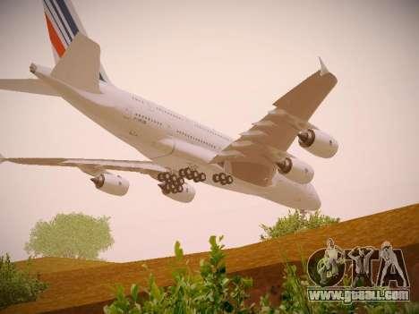 Airbus A380-800 Air France for GTA San Andreas bottom view