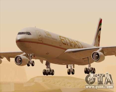 Airbus A340-313 Etihad Airways for GTA San Andreas