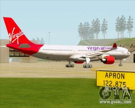 Airbus A330-300 Virgin Atlantic Airways for GTA San Andreas back left view