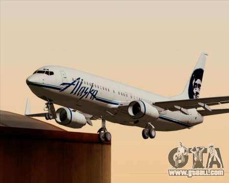 Boeing 737-890 Alaska Airlines for GTA San Andreas wheels