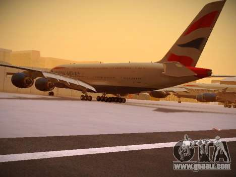Airbus A380-800 British Airways for GTA San Andreas side view