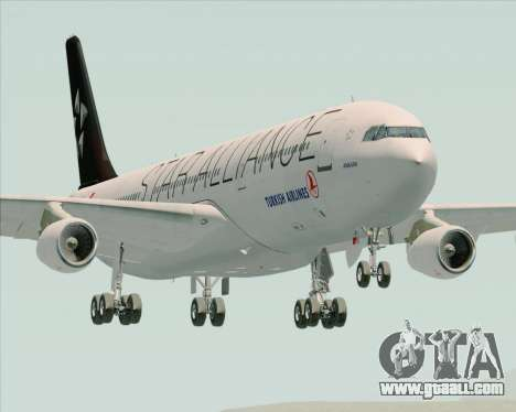 Airbus A340-311 Turkish Airlines (Star Alliance) for GTA San Andreas back view