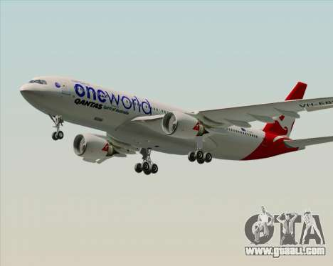 Airbus A330-200 Qantas Oneworld Livery for GTA San Andreas right view
