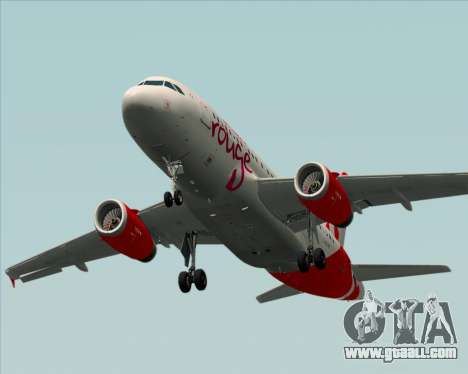 Airbus A319 Air Canada Rouge for GTA San Andreas upper view