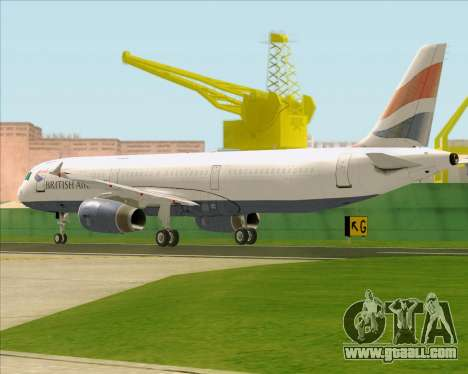 Airbus A321-200 British Airways for GTA San Andreas right view