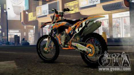 KTM 450 SX-F for GTA 4 left view