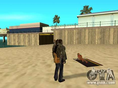 New rugs on the beach for GTA San Andreas forth screenshot