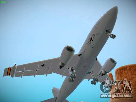 Airbus A310 MRTT Luftwaffe (German Air Force) for GTA San Andreas inner view