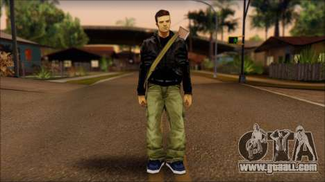 Gun and No Shades Claude for GTA San Andreas