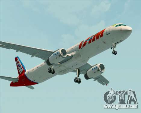 Airbus A321-200 TAM Airlines for GTA San Andreas back left view