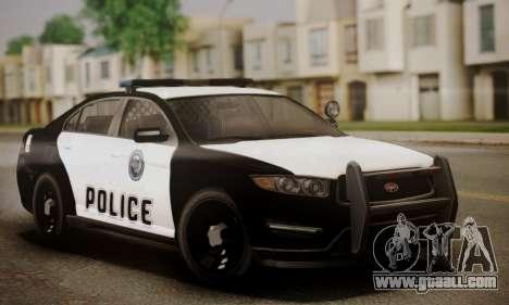 Vapid Police Interceptor from GTA V for GTA San Andreas interior