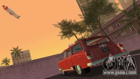 GAS 22 Volga 1965 for GTA Vice City back left view
