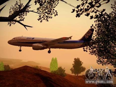 Airbus A320-211 All Nippon Airways for GTA San Andreas interior