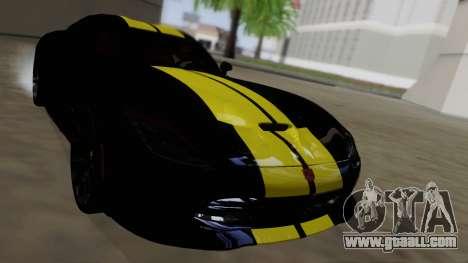 Dodge Viper SRT GTS 2013 Road version for GTA San Andreas upper view