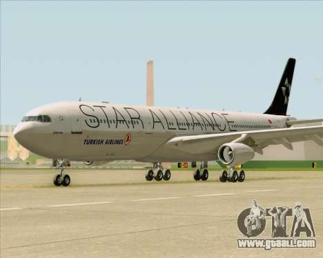 Airbus A340-311 Turkish Airlines (Star Alliance) for GTA San Andreas inner view