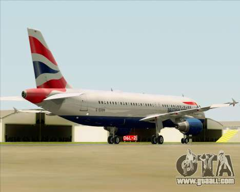 Airbus A320-232 British Airways for GTA San Andreas back left view