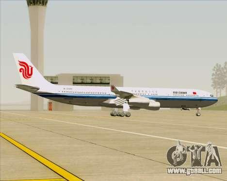 Airbus A340-313 Air China for GTA San Andreas inner view