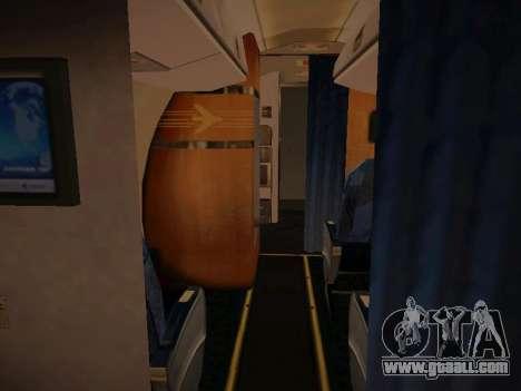 Embraer E190 TRIP Linhas Aereas Brasileira for GTA San Andreas upper view