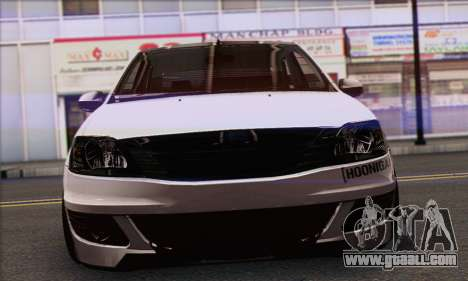 Dacia Logan Hoonigan Edition for GTA San Andreas back left view