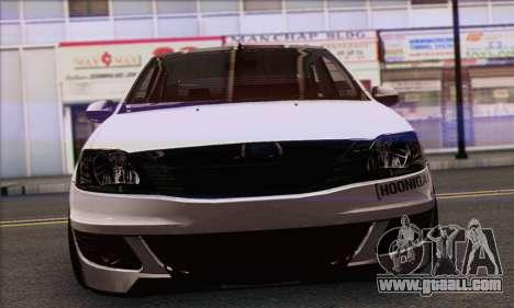 Dacia Logan Hoonigan Edition for GTA San Andreas back left view