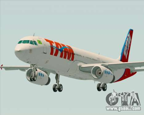 Airbus A321-200 TAM Airlines for GTA San Andreas