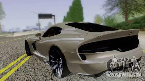 Dodge Viper SRT GTS 2013 Road version for GTA San Andreas left view
