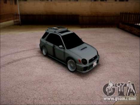 Subaru Impreza Wagon 2002 for GTA San Andreas back left view