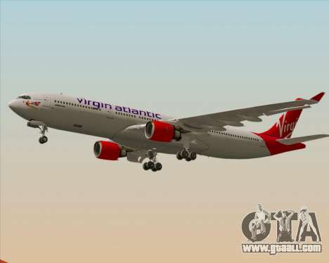 Airbus A330-300 Virgin Atlantic Airways for GTA San Andreas bottom view