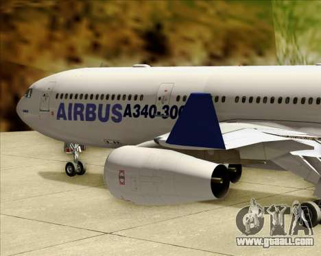 Airbus A340-311 House Colors for GTA San Andreas upper view