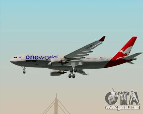 Airbus A330-200 Qantas Oneworld Livery for GTA San Andreas bottom view