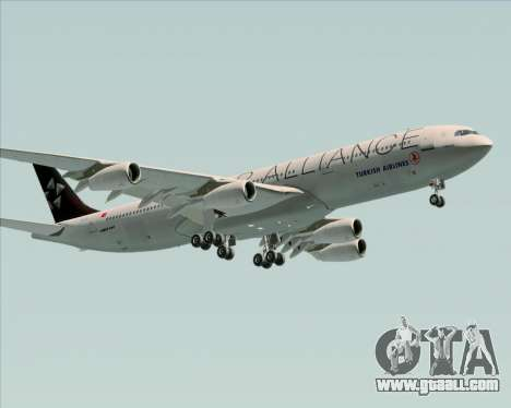Airbus A340-311 Turkish Airlines (Star Alliance) for GTA San Andreas interior