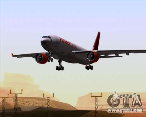 Airbus A330-243F Avianca Cargo for GTA San Andreas upper view