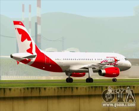 Airbus A319 Air Canada Rouge for GTA San Andreas back view