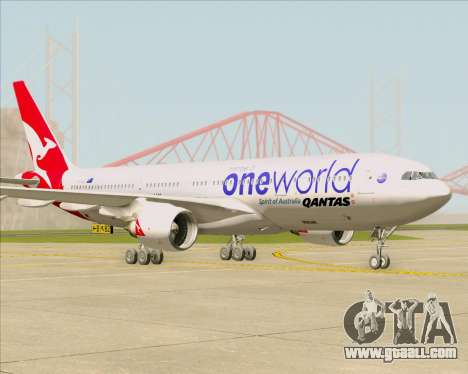 Airbus A330-200 Qantas Oneworld Livery for GTA San Andreas back left view