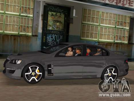 Holden HSV GTS 2011 for GTA Vice City engine