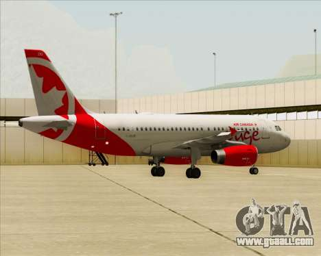 Airbus A319 Air Canada Rouge for GTA San Andreas side view