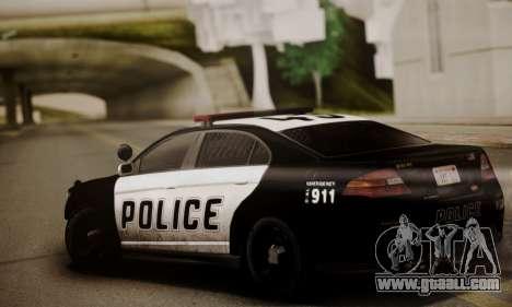 Vapid Police Interceptor from GTA V for GTA San Andreas back left view