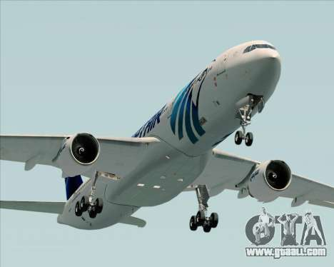 Airbus A330-300 EgyptAir for GTA San Andreas upper view