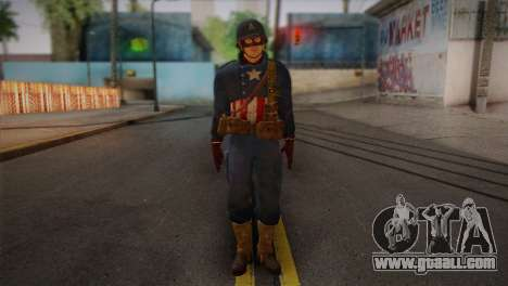 Captain America v2 for GTA San Andreas