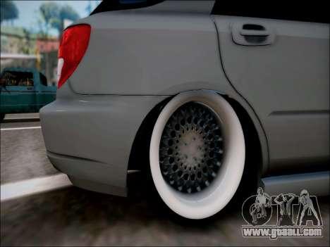 Subaru Impreza Wagon 2002 for GTA San Andreas right view