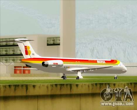 McDonnell Douglas MD-82 Iberia for GTA San Andreas back view