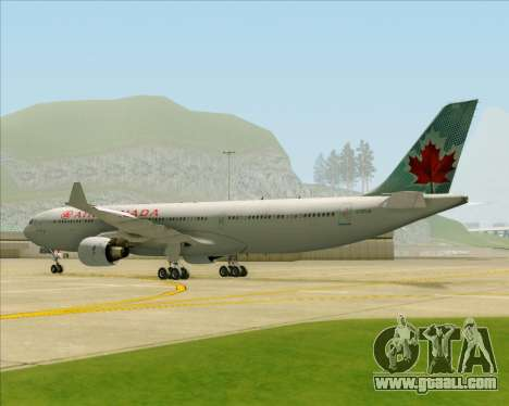 Airbus A330-300 Air Canada for GTA San Andreas back view