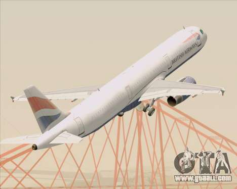 Airbus A321-200 British Airways for GTA San Andreas
