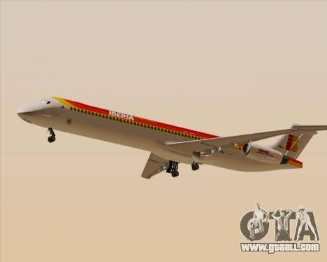 McDonnell Douglas MD-82 Iberia for GTA San Andreas back left view