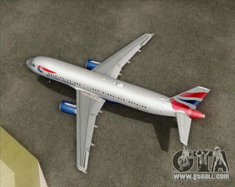Airbus A320-232 British Airways for GTA San Andreas side view