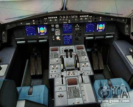 Airbus A330-300 EgyptAir for GTA San Andreas interior