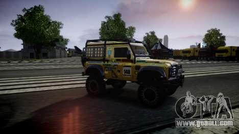 Land Rover Defender for GTA 4 back left view